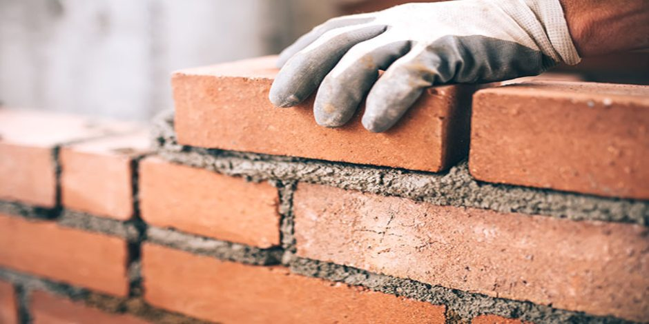 construction method stock image - bricklaying