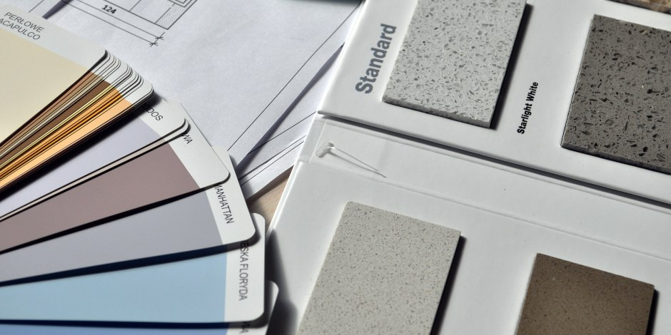 range of countertop finishes and colour choices