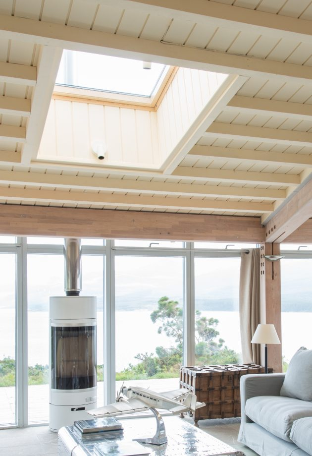 Eagle Rock interior with VELUX roof window, self-build home, Sound of Mull