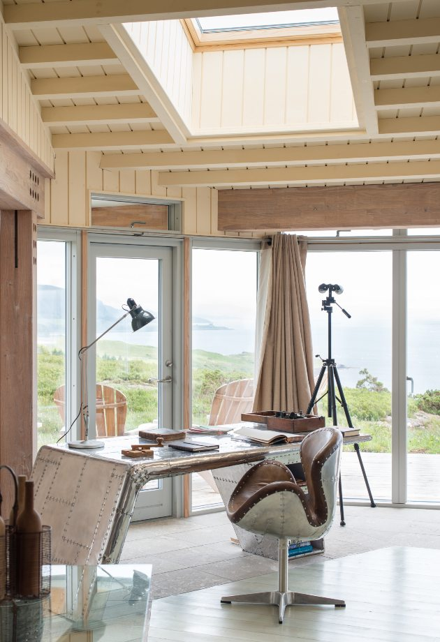 Eagle Rock interior study with VELUX roof window, self-build home, Sound of Mull