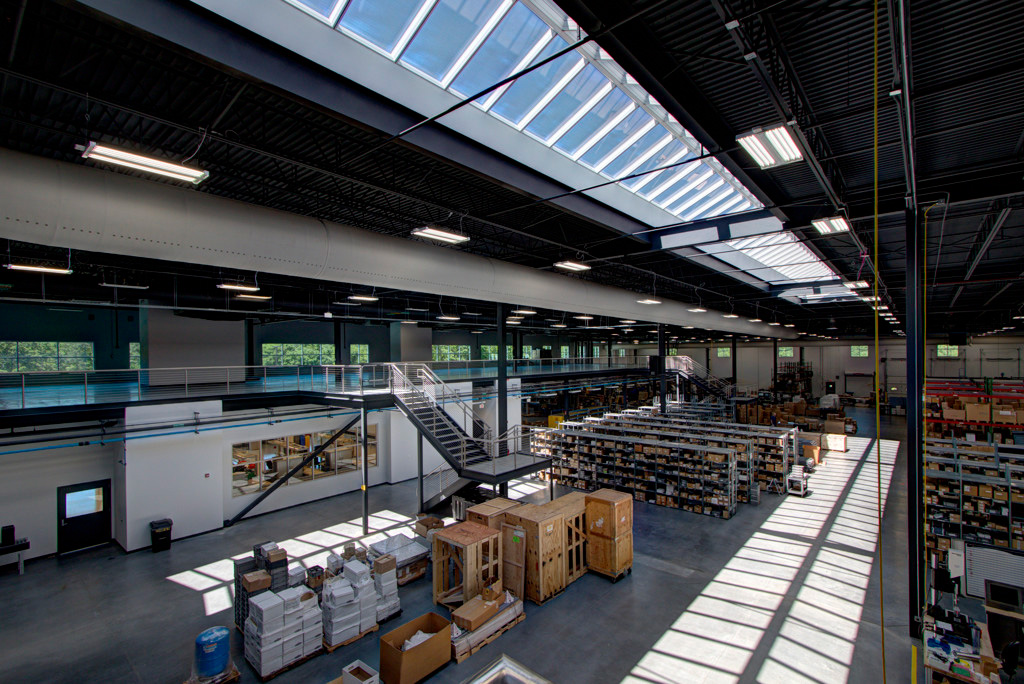 Ridgelight system brings natural light to manufacturing floor at Burkert Fluid Controls
