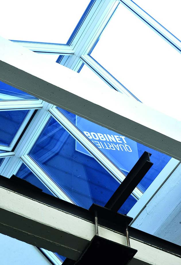 Skylight solution with Ridgelight 25°-40°, Former textile dye works in the Bobinet quarter, Germany
