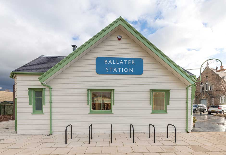 The Old Royal Station in Ballater, Großbritannien