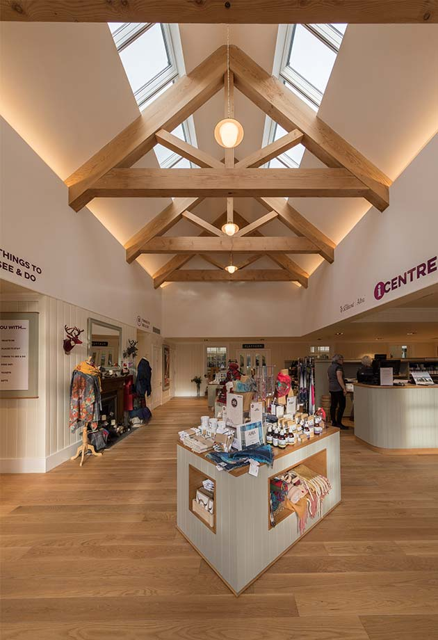Rooflight solution with Northlight 25-90˚ modules, The Old Royal Station in Ballater, United Kingdom
