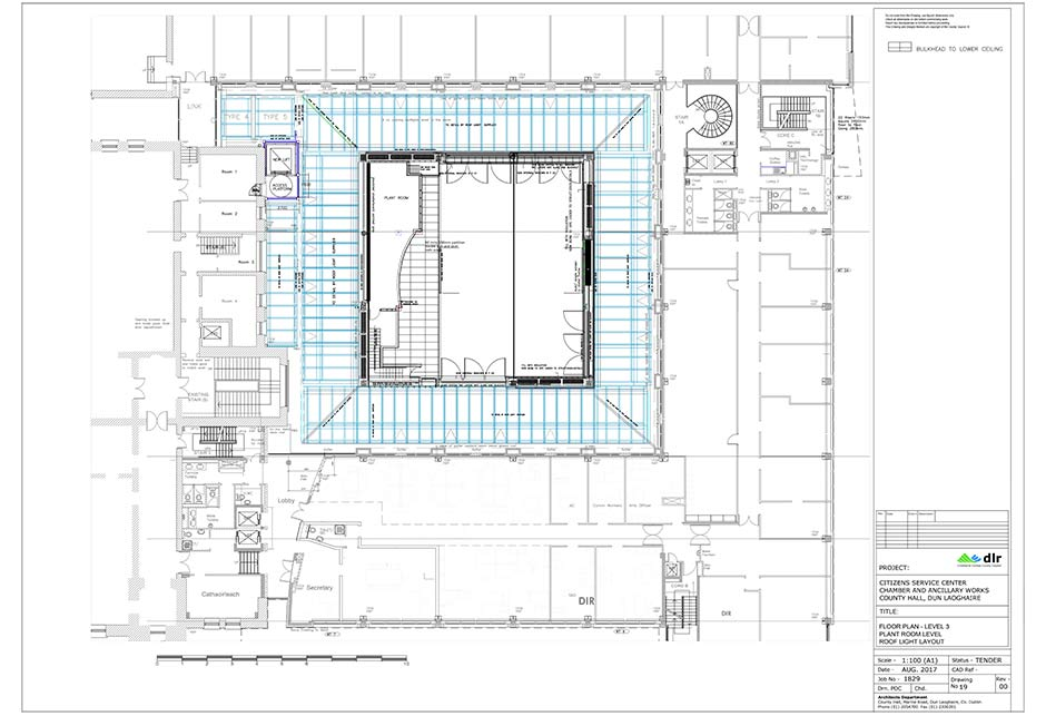 Architectural drawing, Dún Laoghaire–Rathdown County Council, Ireland