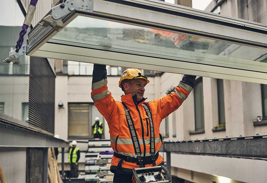 Installation of VELUX Modular Skylights at Dún Laoghaire–Rathdown County Council