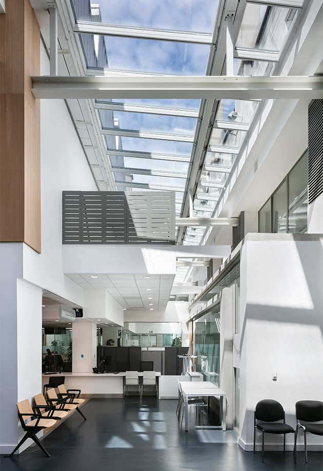 VELUX Step solution in the Civic Hub, Dún Laoghaire–Rathdown County Council building