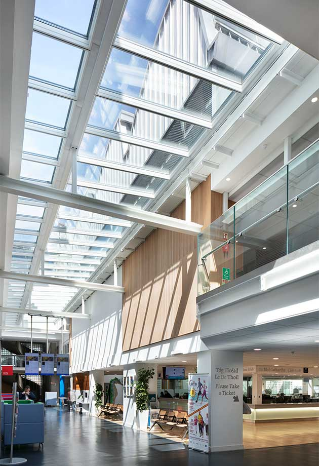 VELUX rooflights in the  Civic Hub at Dún Laoghaire–Rathdown County Council