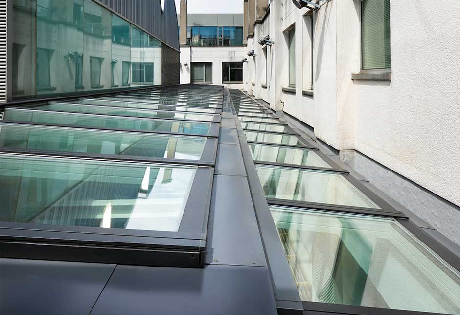 VELUX Modular Skylights Step solution at Dún Laoghaire Rathdown County Council