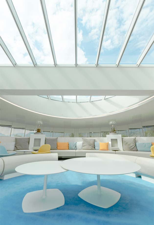 Atrium skylight solution bringing daylight to the Somfy Lighthouse building, France