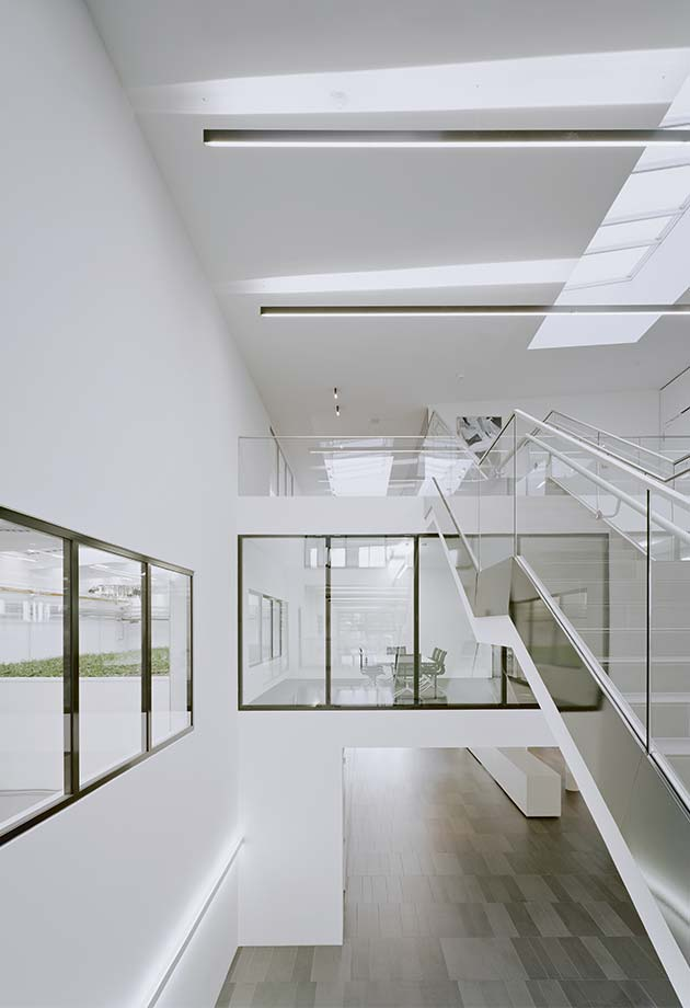 Stairwell  with VELUX Modular Skylights - Longlight 5-30°, Fellbach, Germany