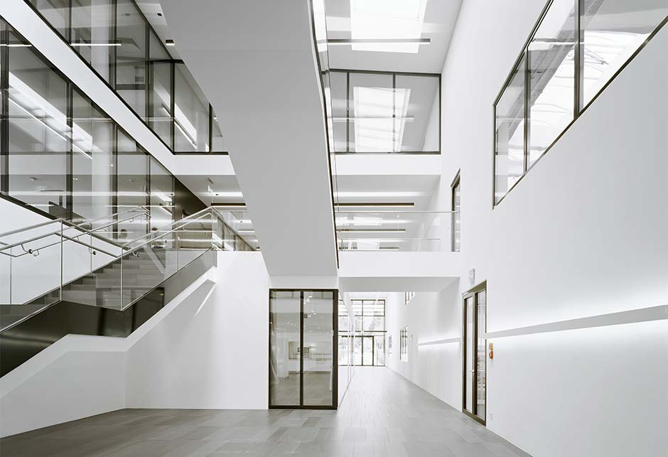 Stairwell with VELUX - Longlight 5-30° modular skylight solution, Fellbach, Germany