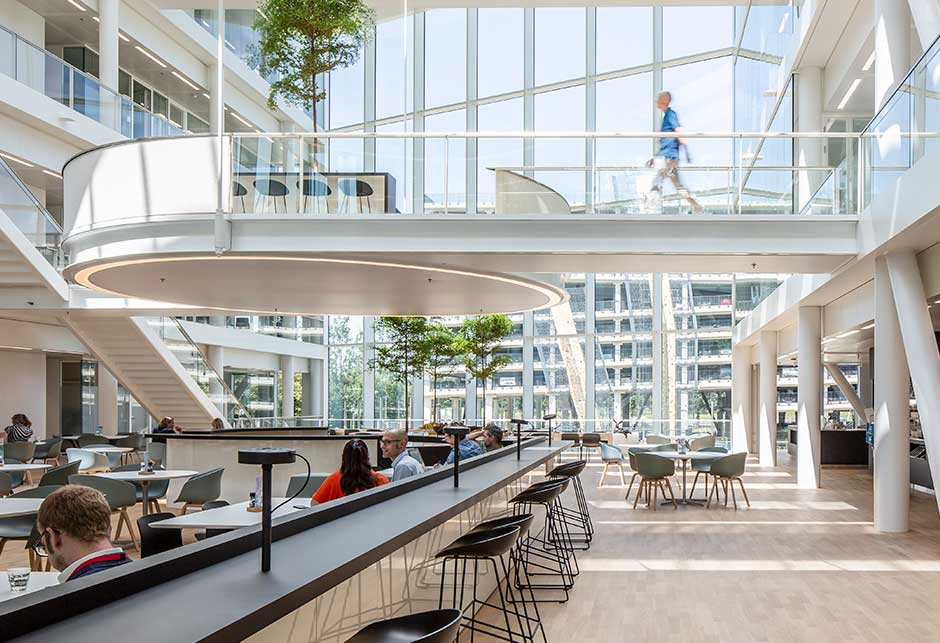 Daylight at Genmab interior, The Netherlands