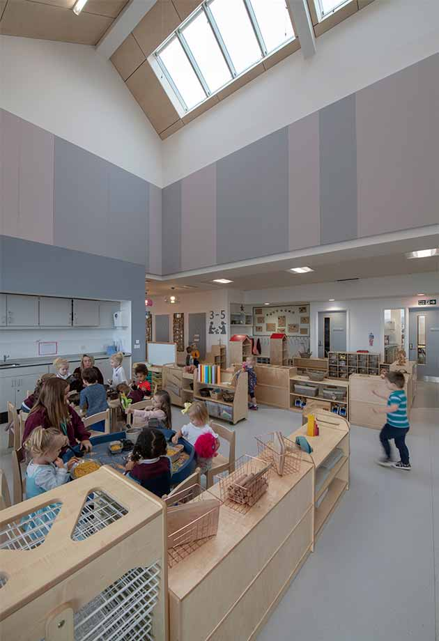 Northlight rooflights at Glenpark Early Learning Centre, Scotland