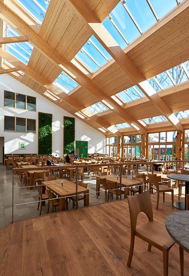 Rooflight solution with Longlight 5-30° modules, Salus canteen, Germany
