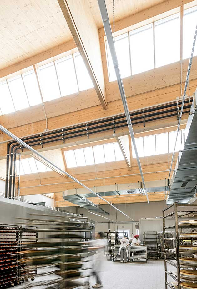 Rooflight solution with Northlight 40-90˚ modules, Schöllkopf Backwaren, Waiblingen, Germany