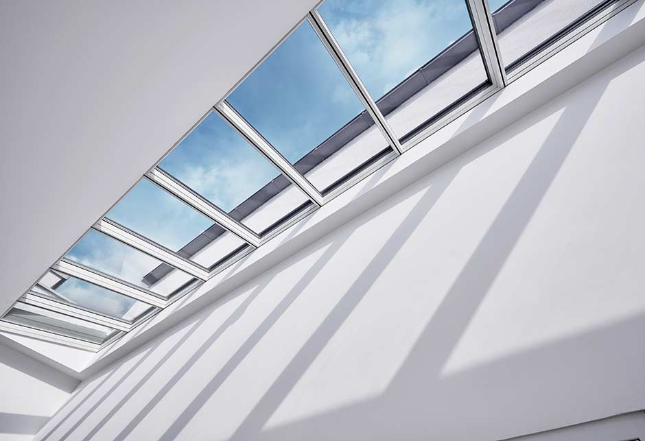 Skylight solution with Longlight 5°-30° in school, Ebensee, Austria
