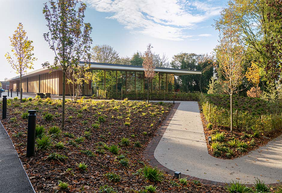 External view of Strawberry Field Visitor Centre