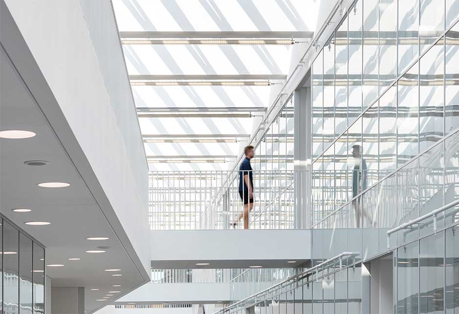 Rooflight solution with Longlight modules lights up the University of Southern Denmark, Odense Campus