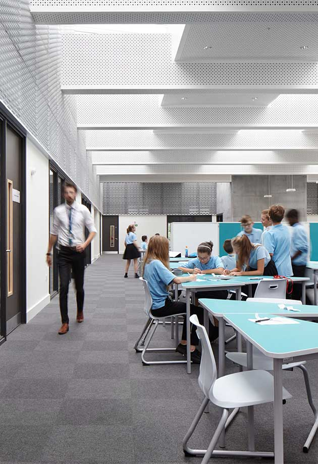 Classroom skylight solution at Trumpington College – Photographer Jack Hobhouse