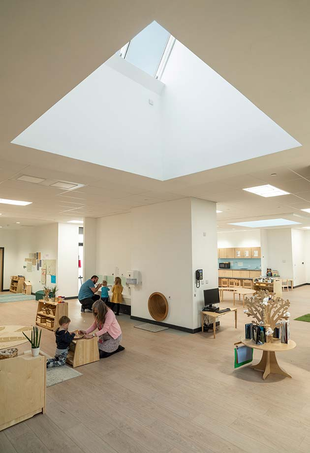 VELUX Northlights in Nursery at Tullibody South Campus for plentiful daylight