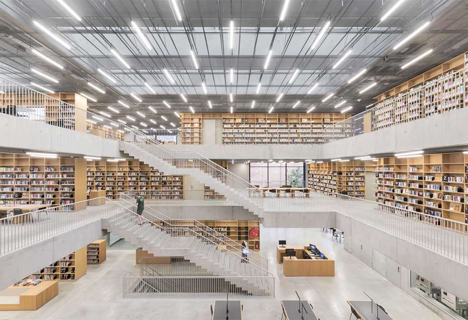 Rooflights with Atrium longlight modules at Utopia Library