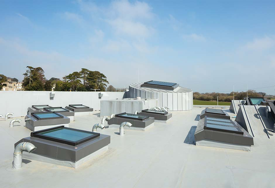 Rooftop view of Skylight solutions at Wicklow Hospice, Ireland