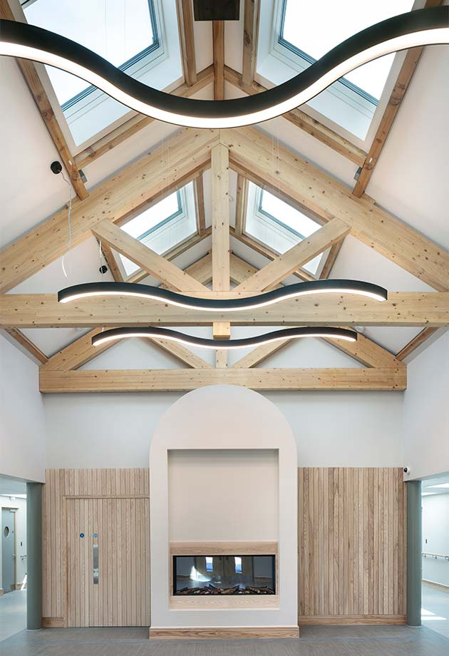 Internal shot of VELUX skylight solution at Wicklow Hospice
