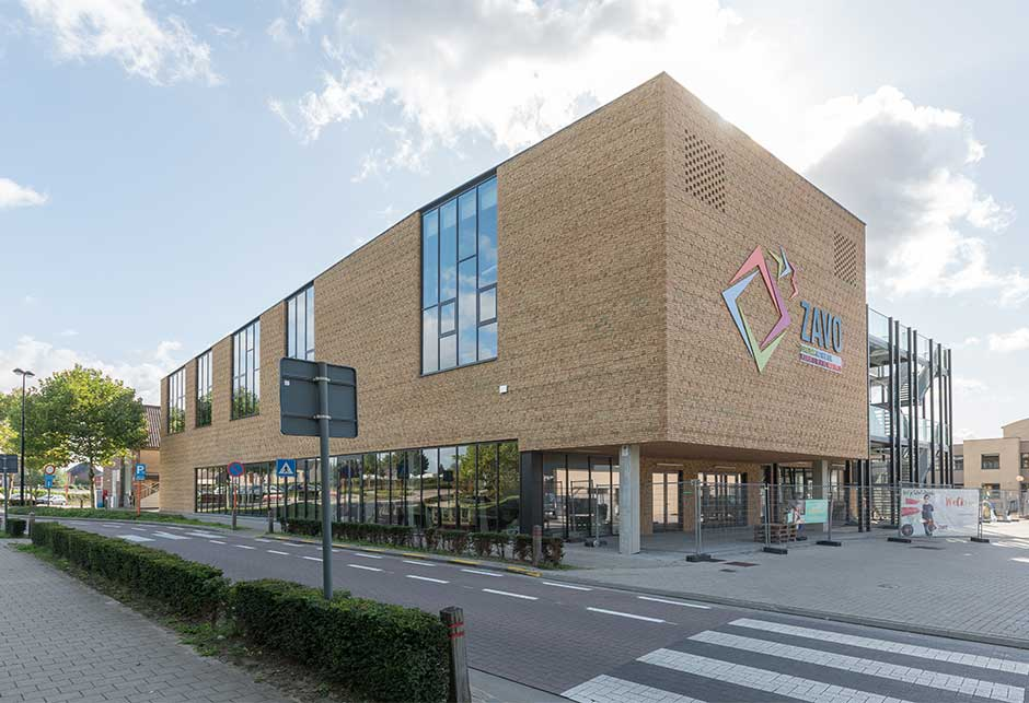 External view of ZAVO school, Zaventem, Belgium