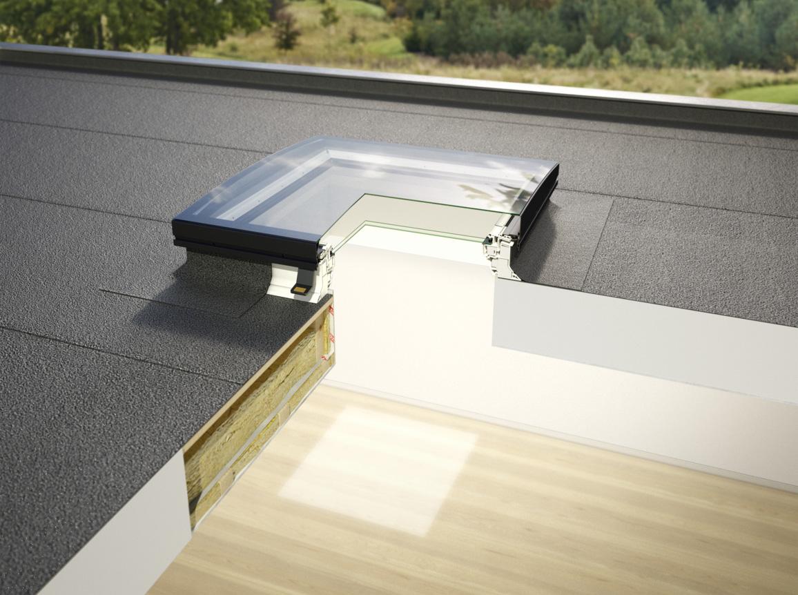 Flachdachfenster rund  Flachdach-Fenster Konvex Glas