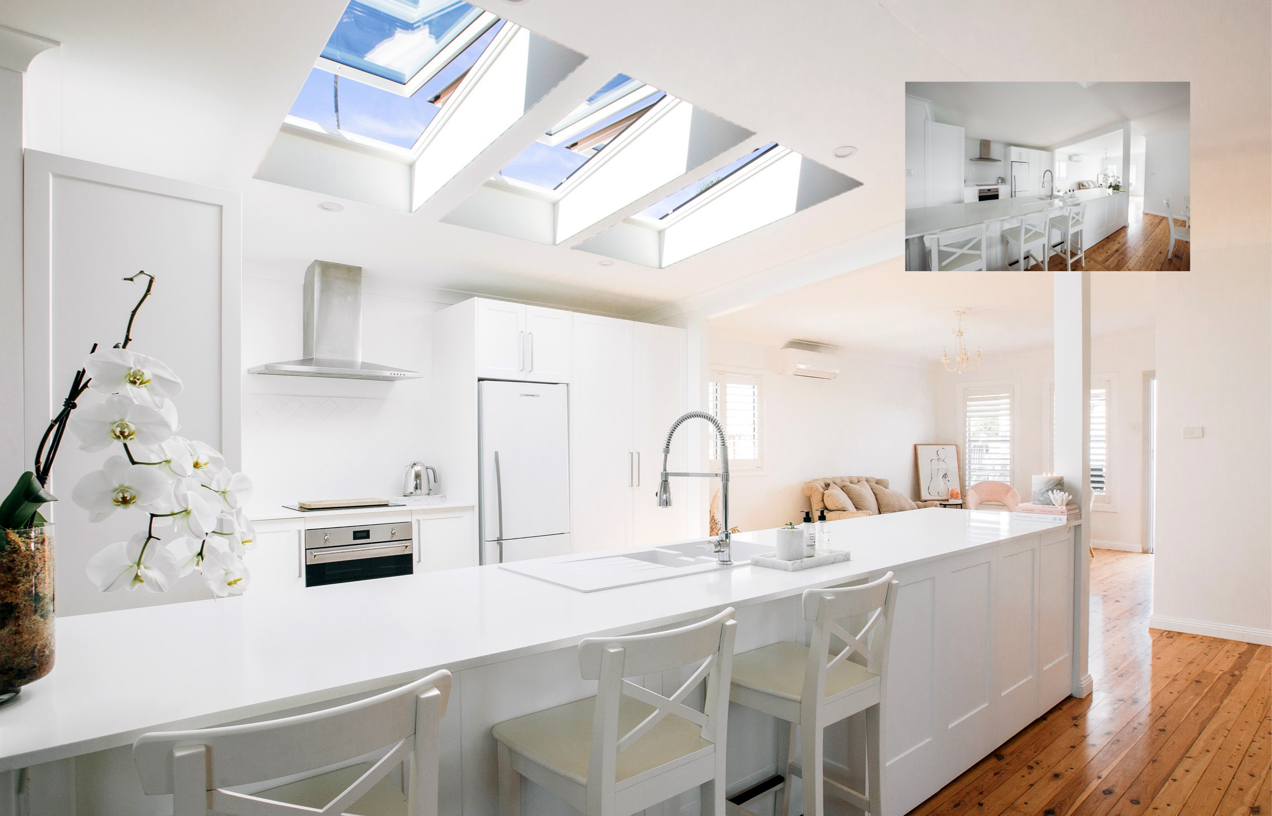 skylights in kitchen to show transformation in sydney