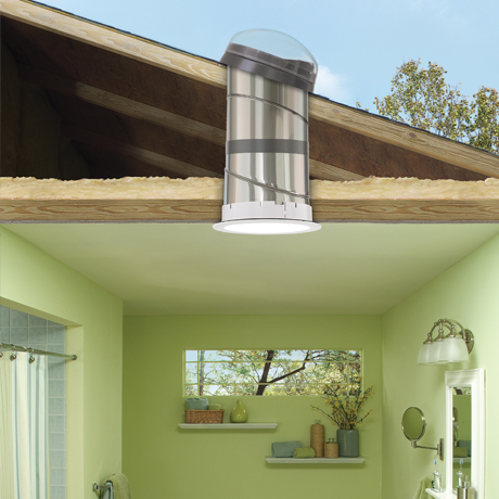 Velux sun tunnel skylights flexible and rigid a highly reflective rigid tunnel provides the brightest light workwithnaturefo