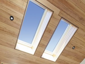 velux skylights with timber panels in brisbane
