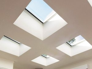 flat roof skylights with a sky view in melbourne