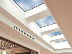 glat room skylights in living room in sydney