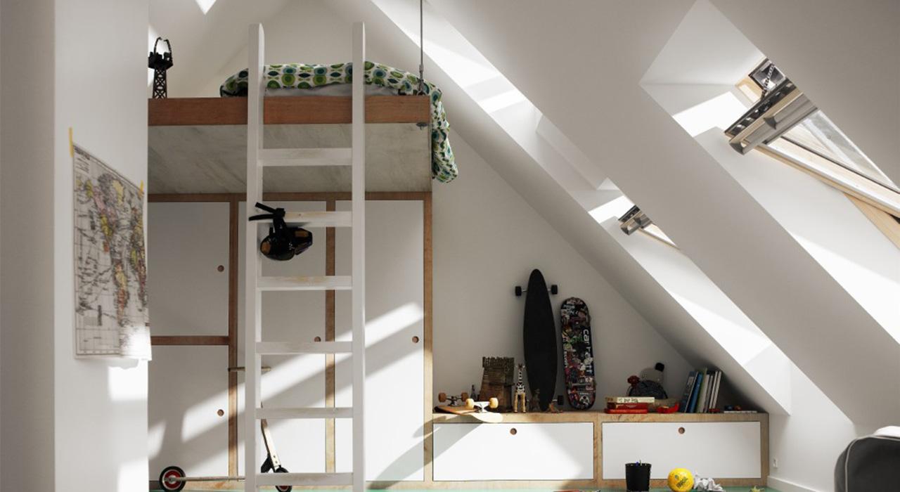 Dachausbau Ideen dachausbau ideen für kinderzimmer velux dachfenster