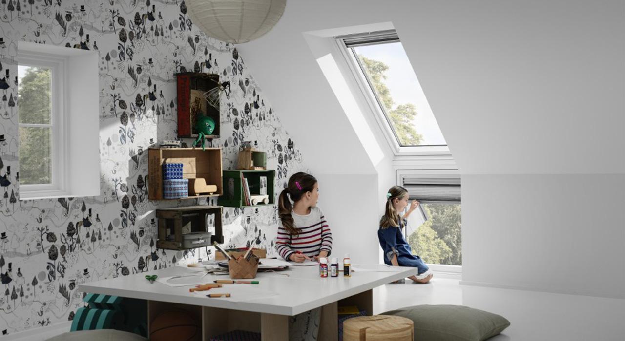 Dachausbau Ideen für Kinderzimmer   VELUX Dachfenster