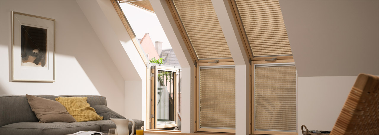 velux plissee dachfenster great velux rollo plissee duo system dfd s standard with velux. Black Bedroom Furniture Sets. Home Design Ideas