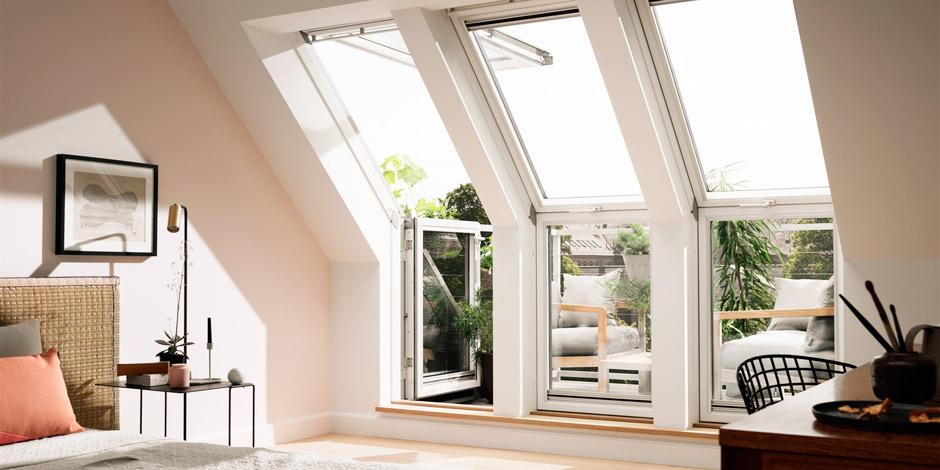 velux fachkunden informationen zum velux dachbalkon. Black Bedroom Furniture Sets. Home Design Ideas