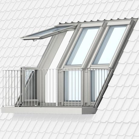Velux Rettungsfenster vom fenster zum dachbalkon oder dachaustritt velux