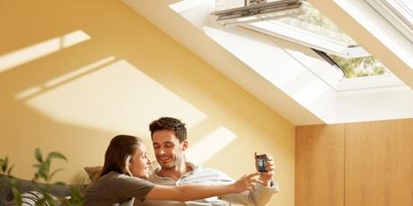 VELUX INTEGRA Dachfenster Schlafzimmer