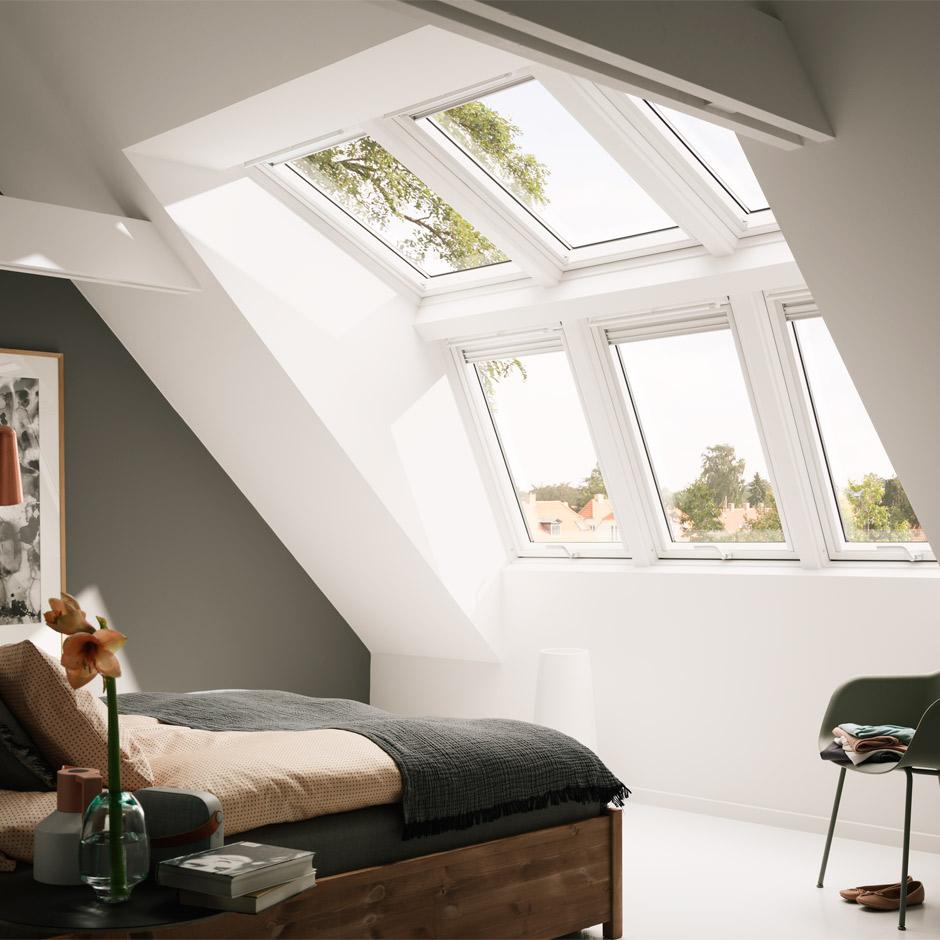 Velux systeml sung raum licht f r noch mehr kopffreiheit - Dachfenster panorama ...