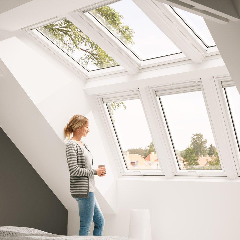 velux systeml sung raum licht f r noch mehr kopffreiheit lichteinfall und ausblick. Black Bedroom Furniture Sets. Home Design Ideas