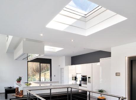 Oberlichter Flachdach flachdachfenster lichtkuppel velux licht und frische luft