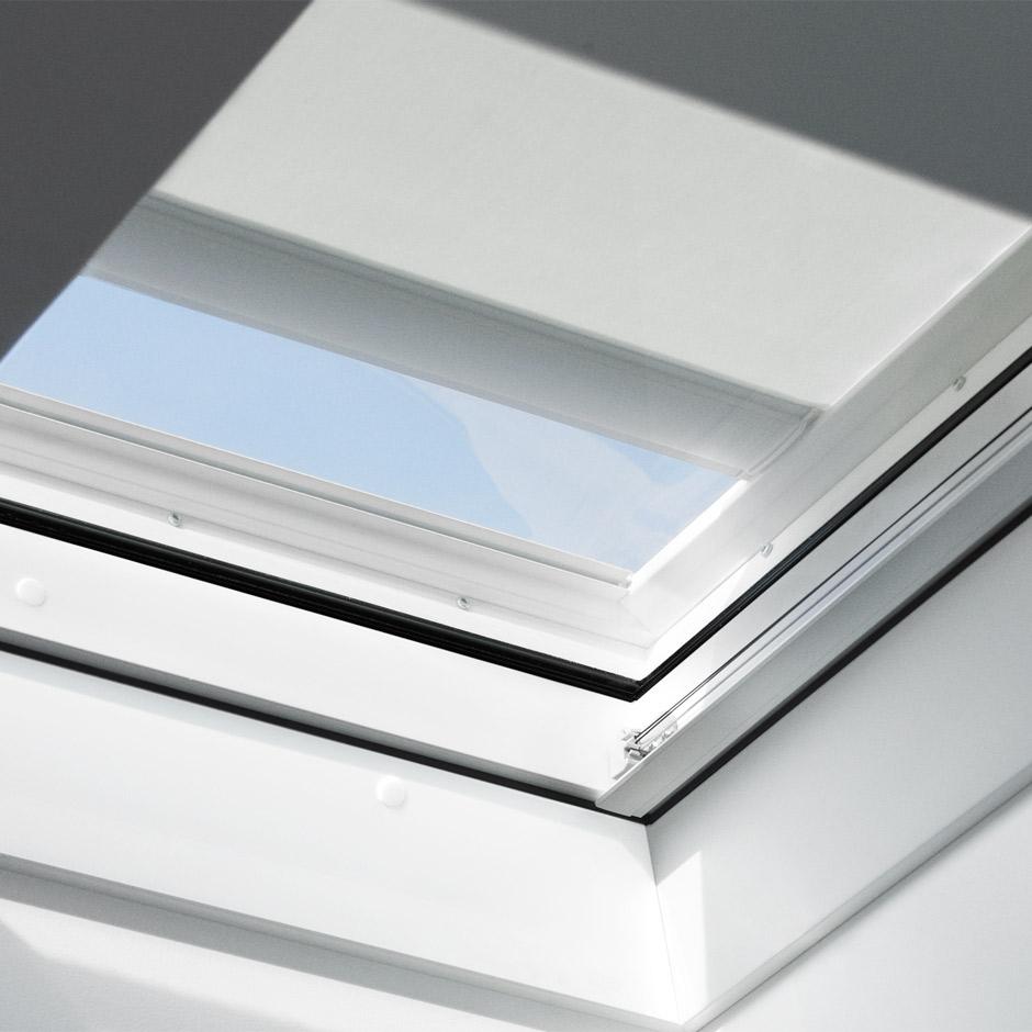 velux plissees faltstore f r flachdachfenster dekorativ