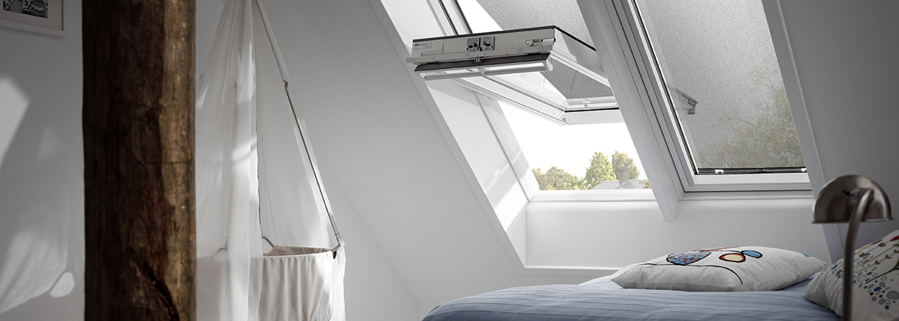 VELUX Hitzeschutz Markise Schlafzimmer