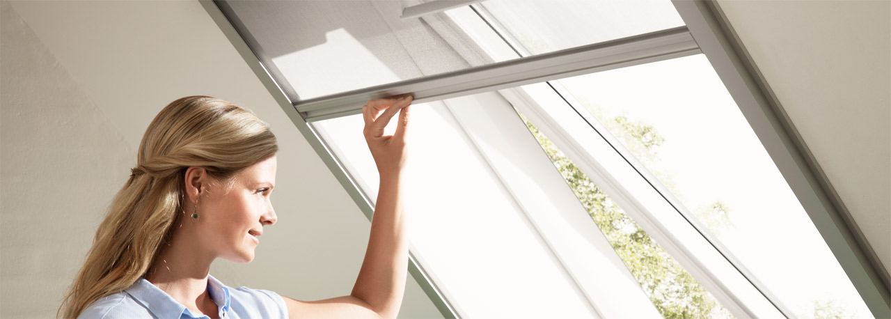 VELUX Insektenschutzrollos - Insektenschutz für Dachfenster