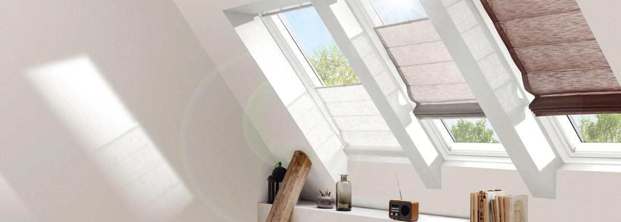 velux fachkunden raffrollo als hitze und sonnenschutz On raffrollo dachfenster
