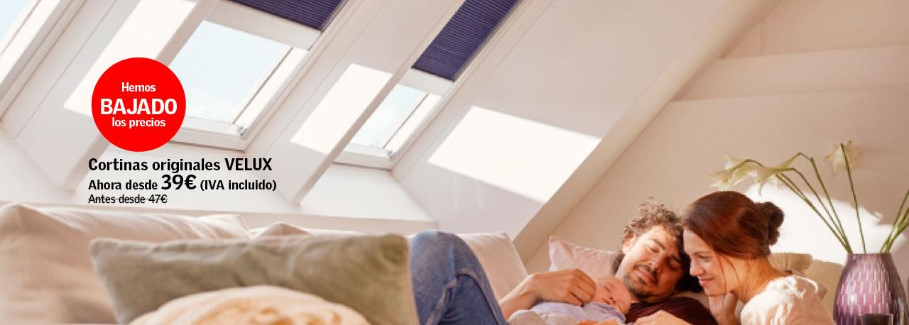 Las aut nticas ventanas para tejados son velux cortinas for Persianas velux precios