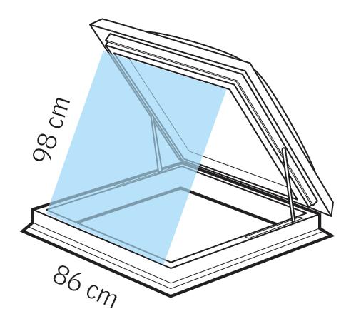 Dettagli tecnici finestra per tetti piani velux per l for Finestre velux per accesso al tetto